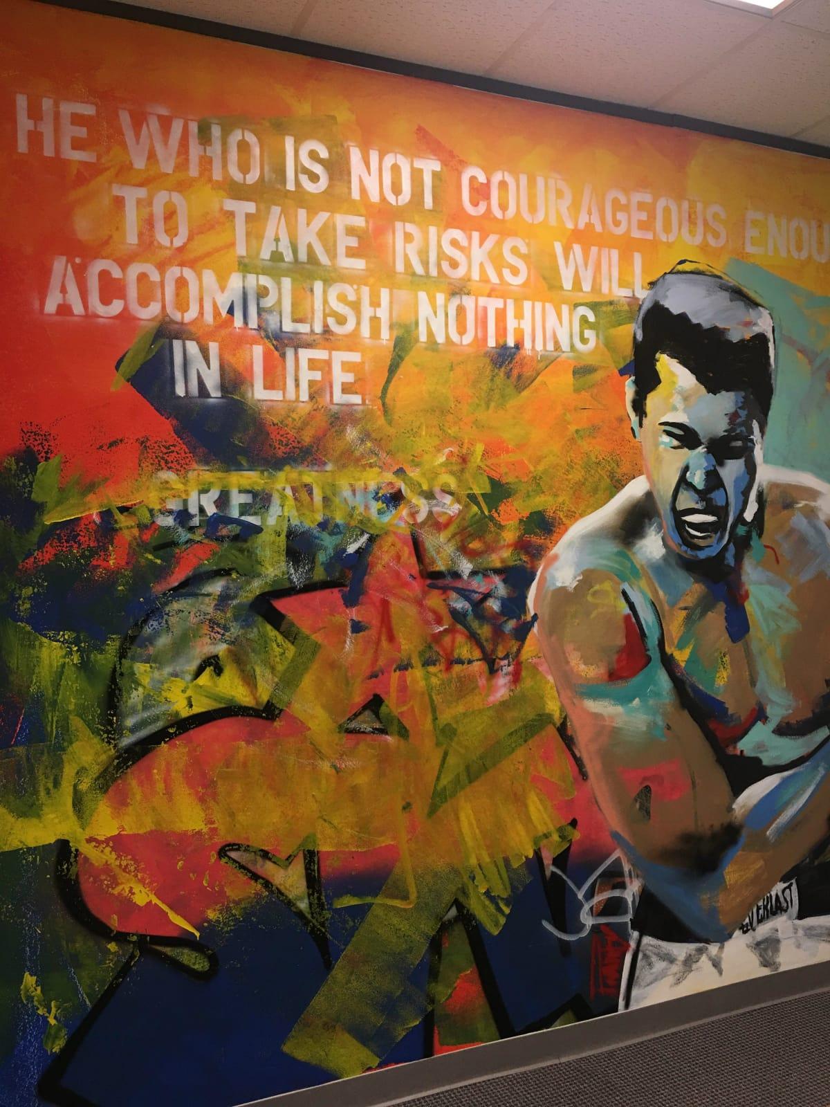 Muhammed Ali painting