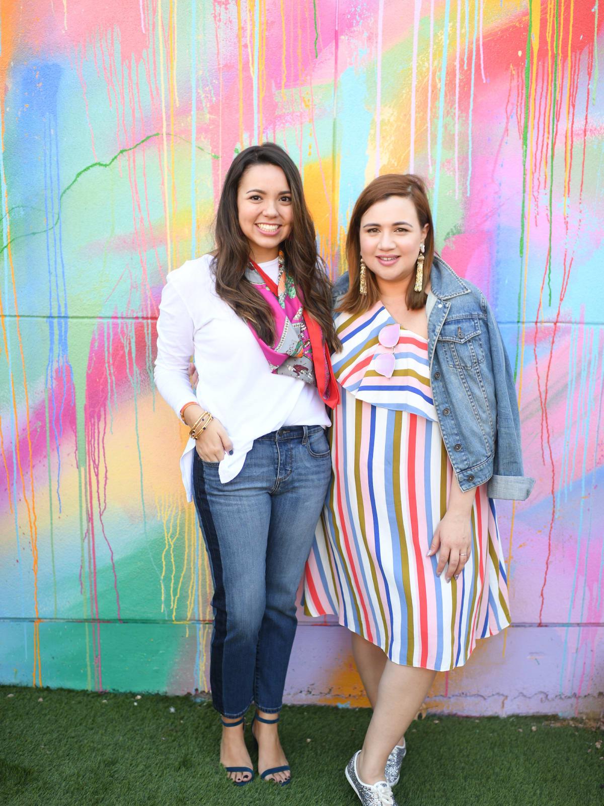 Alexandria Haines, Nicole Kestenbaum at More Color Please launch