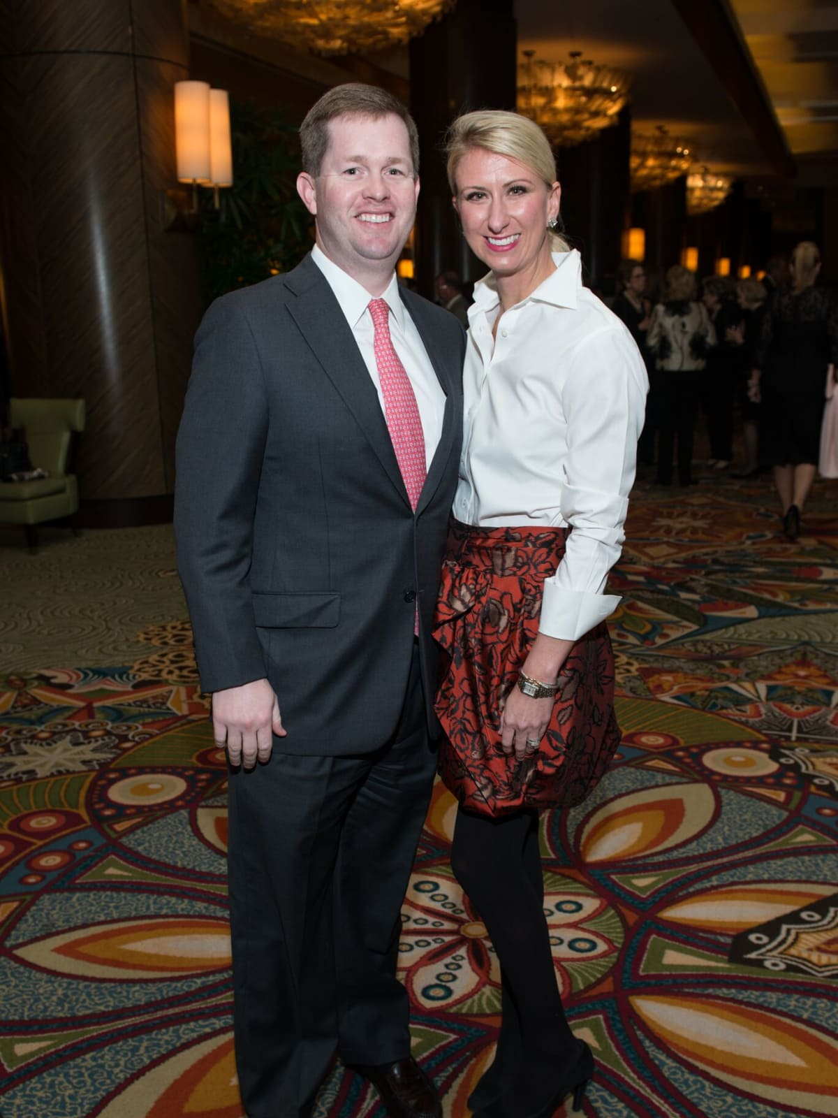 Chris and Allison Wallace at MD Anderson Legends dinner