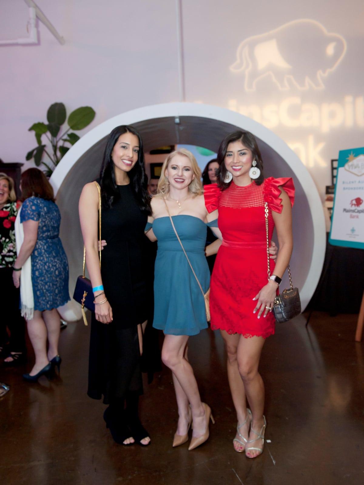 Junior League Viva Big D party 2018, Priya Buxani, Amy Jenkins Martinez and Stephanie Ramirez