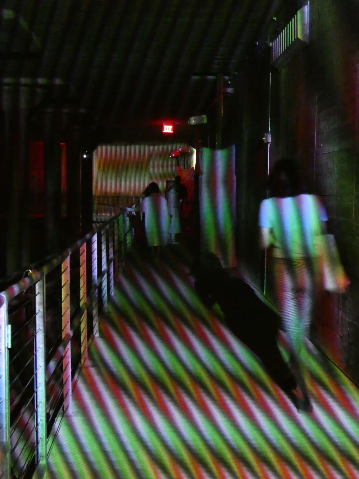 Carlos Cruz-Diez at the Cistern: Spatial Chromointerference/walkway