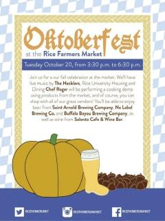 Rice University Farmers Market Oktoberfest