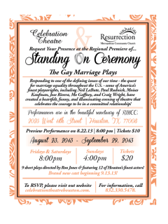 Celebration Theatre presents Standing on Ceremony: The Gay Marriage Plays