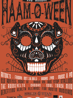 poster for Good Eggs and HAAM present Haam-o-ween concert