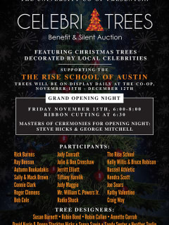flyer for CelebriTrees fundraiser at University Co-op