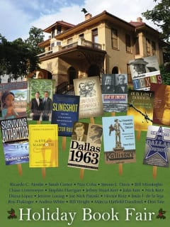 flyer for Humanities Texas Holiday Book Fair at Byrne-Reed House