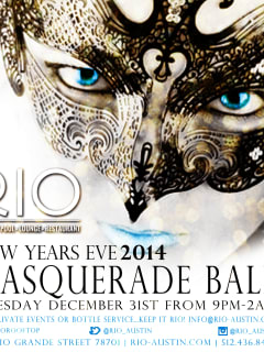 Poster For New Years Eve Masquerade Ball At RIO Rooftop