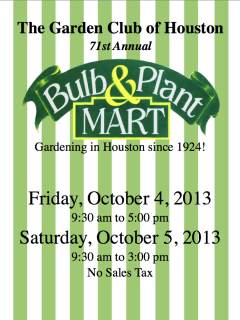 Garden Club of Houston's 71st Annual Annual Bulb & Plant Mart
