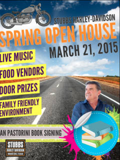Dan Pastorini book signing and Stubbs Harley-Davidson spring open house