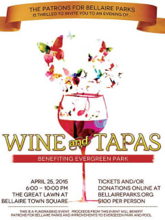 Patrons for Bellaire Parks' Seventh Annual Wine and Tapas Gala