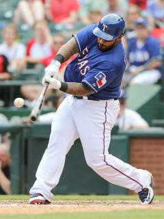 Texas Rangers first baseman Prince Fielder