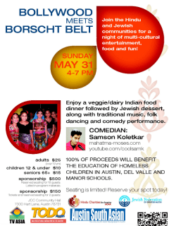 Bollywood Meets Borscht Belt_Hindu Charities for America_2015