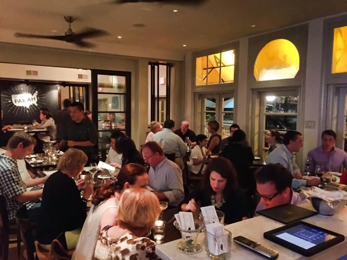 Pax Americana dining room with crowd