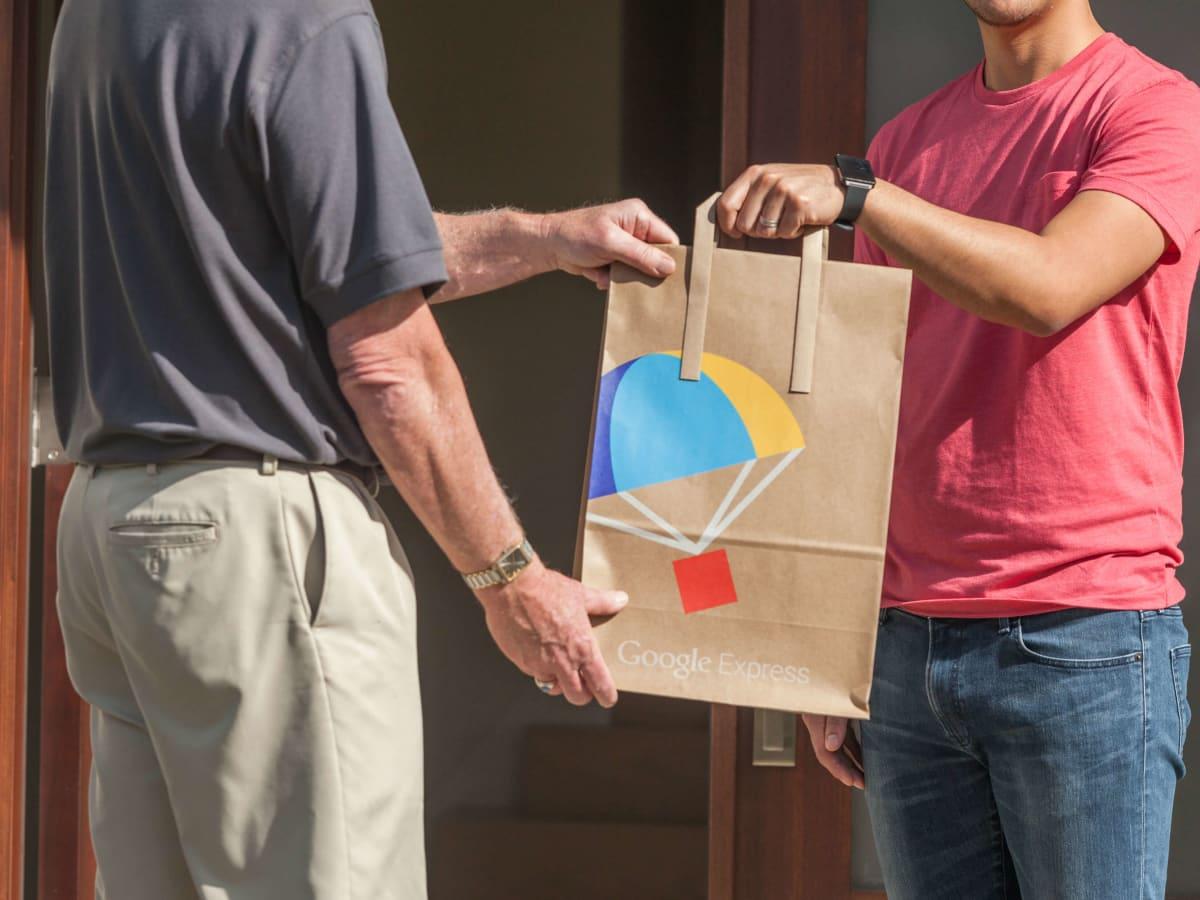 Google Express logo bag door delivery service