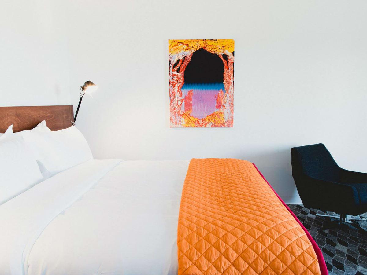 Guest room of Hotel Saint George in Marfa, Texas