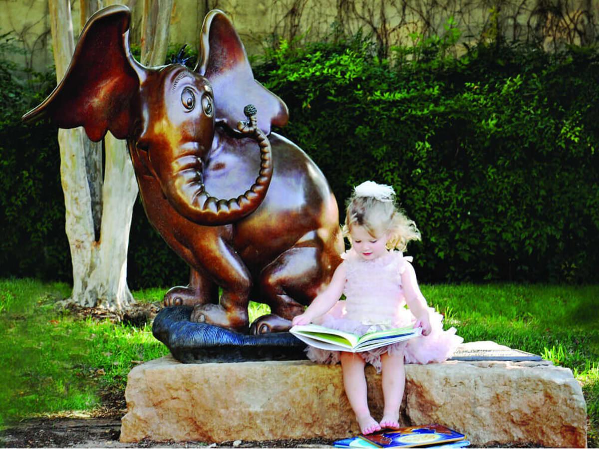 Storybook sculpture in Abilene, Texas
