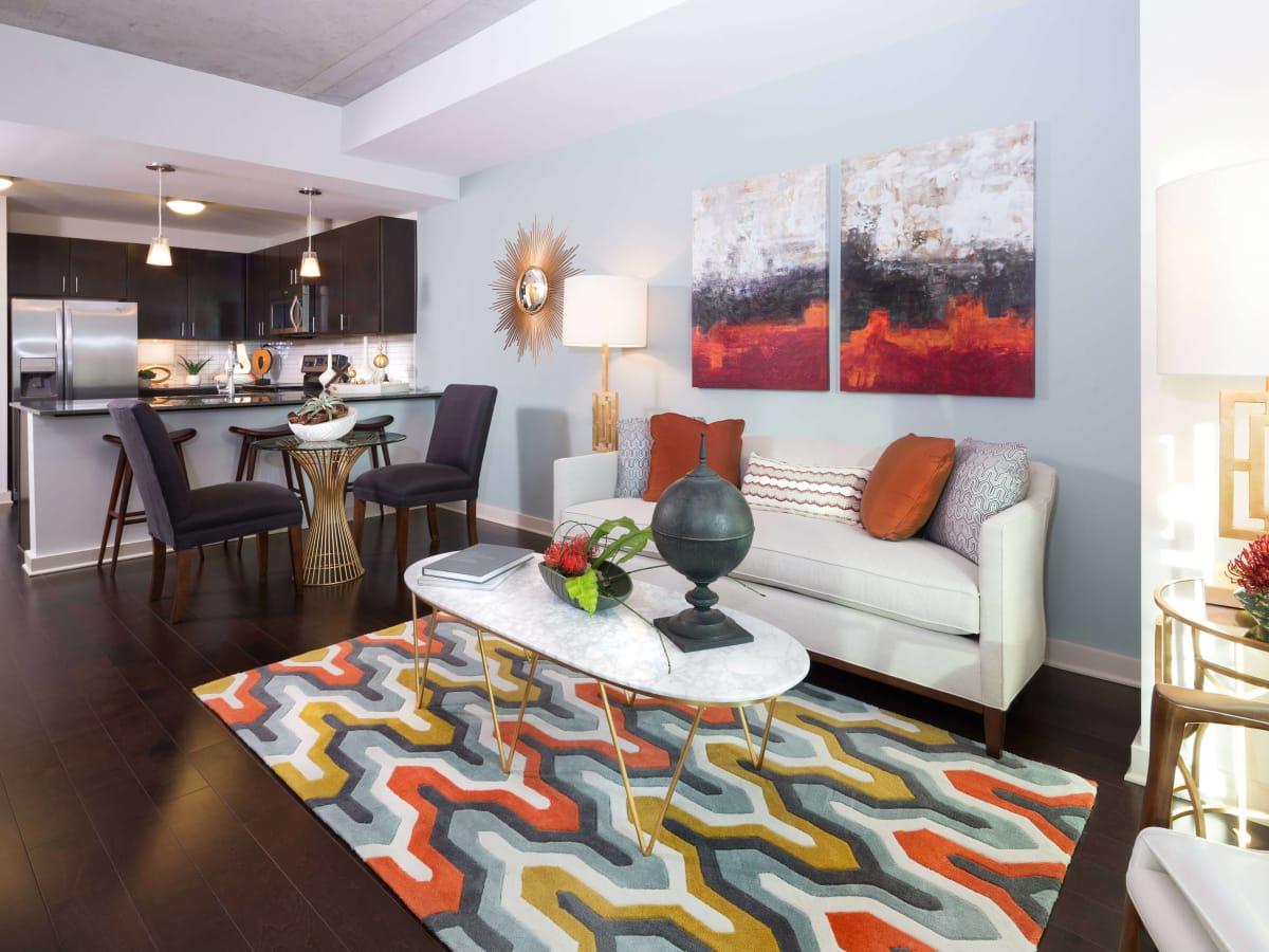 Skyhouse Dallas living room