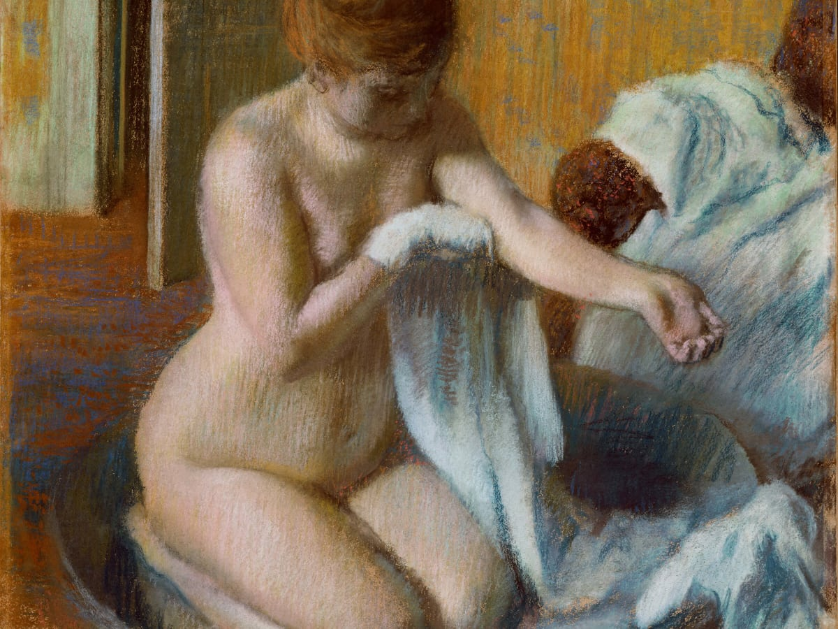 Edgar Degas, Woman in a Tub, c. 1883, pastel on paper, Tate, London, bequeathed by Mrs A. F. Kessler 1983