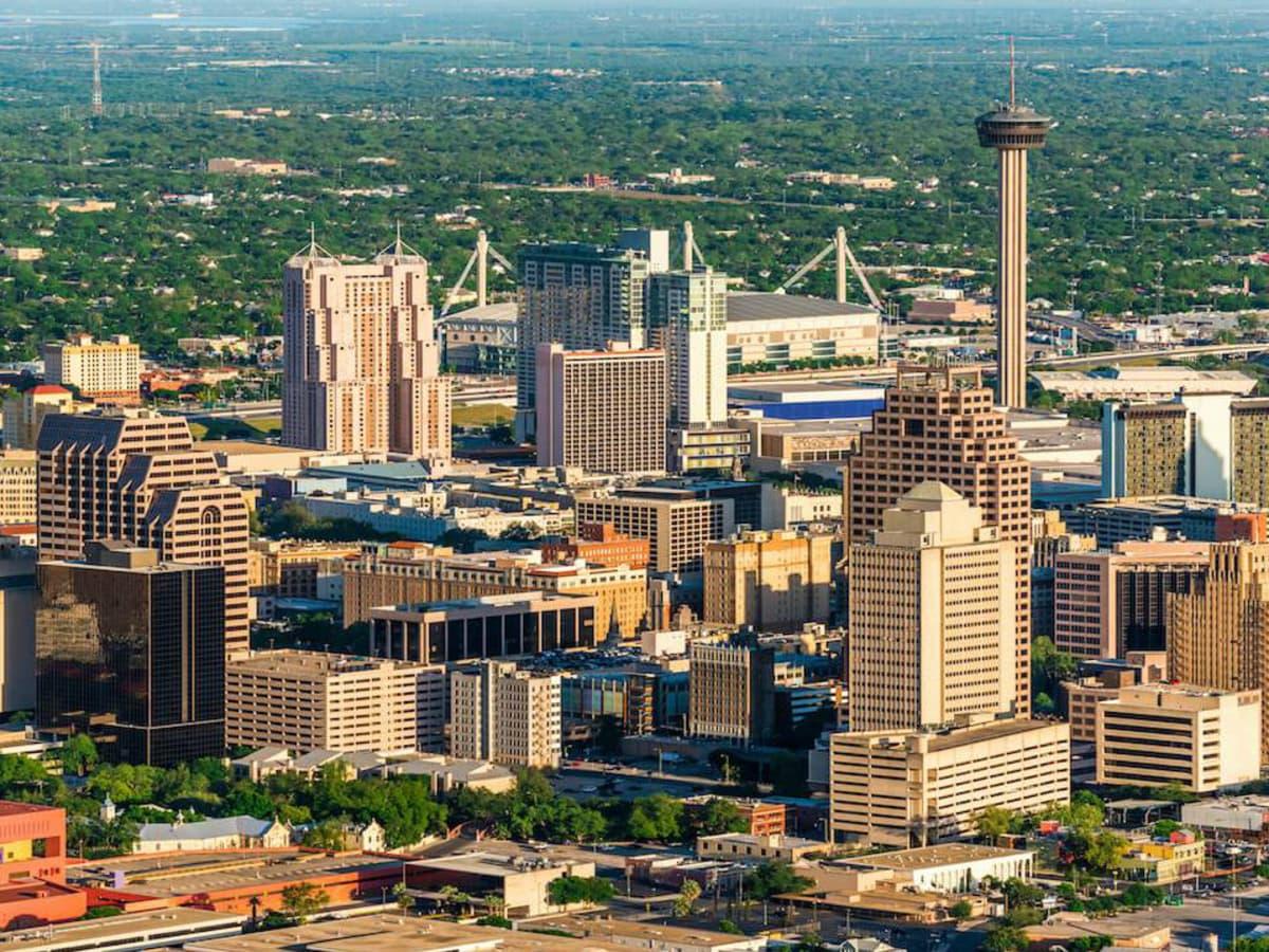 San Antonio downtown skyline skyscrapers