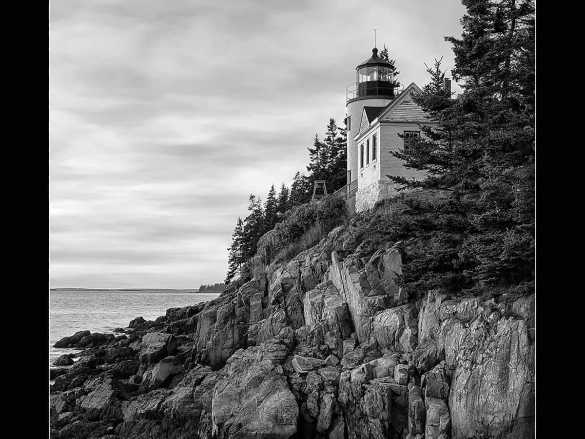 Mark Burns photo of lighthouse at Acadia National Park