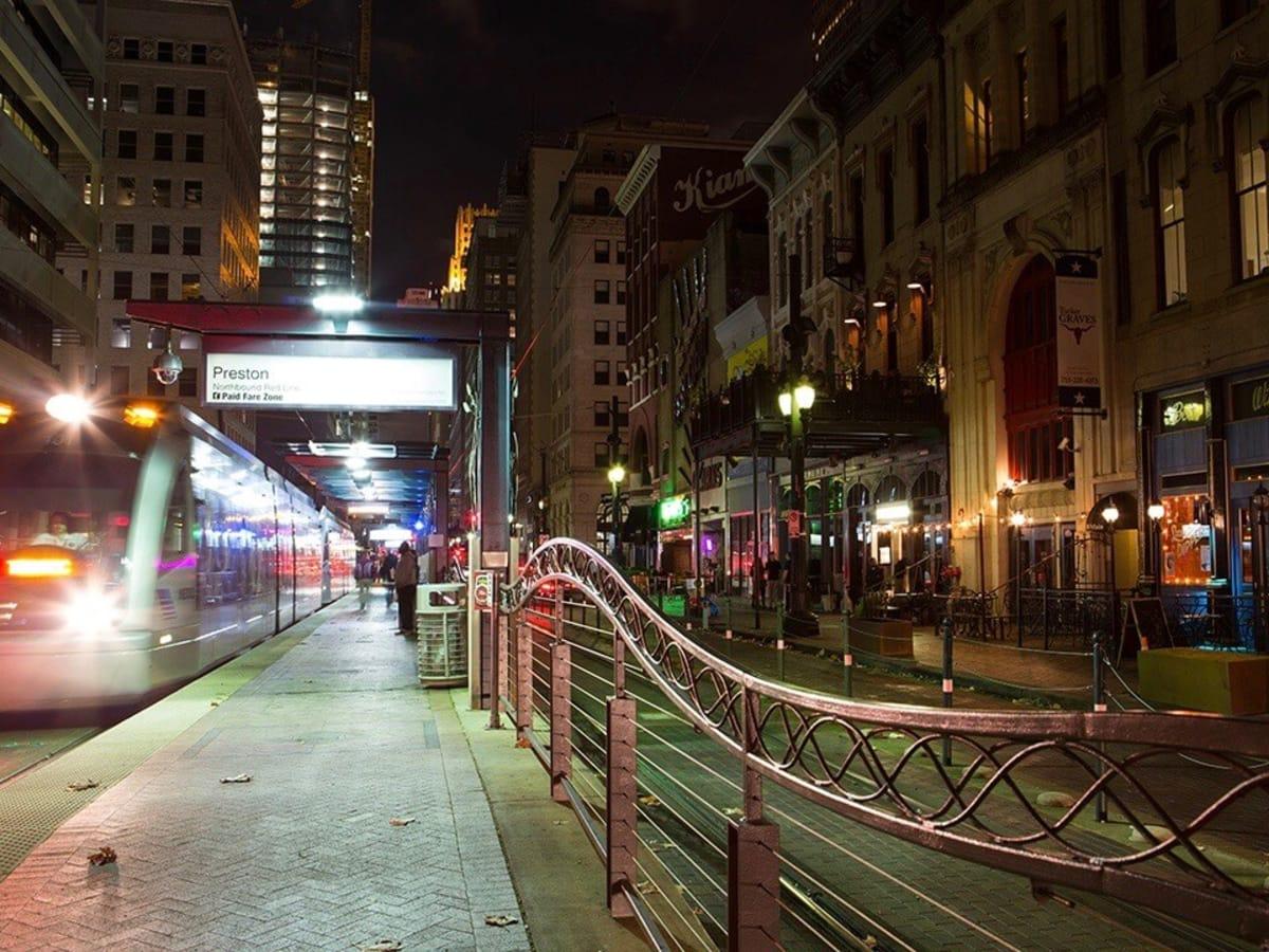 Metro rail downtown houston, August 2016