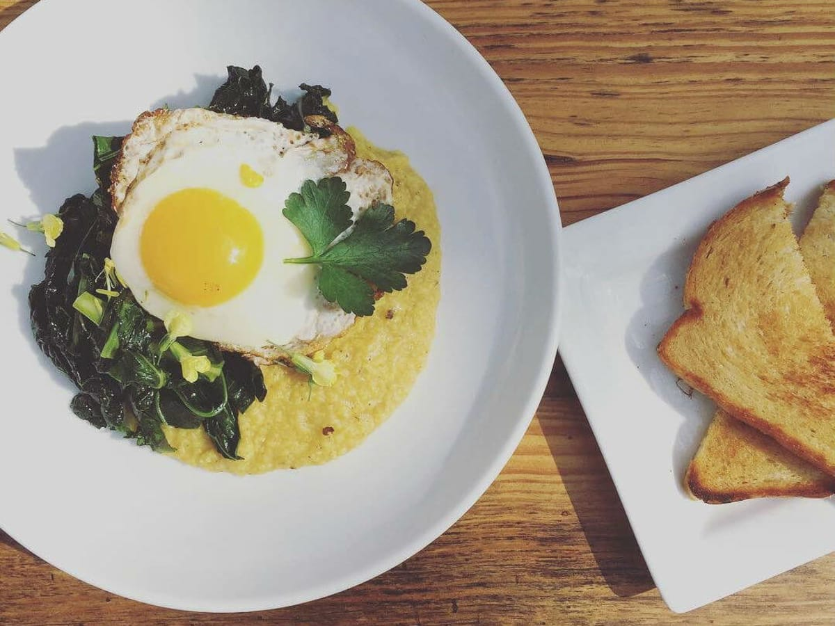 Eden East Austin restaurant brunch breakfast grits and greens