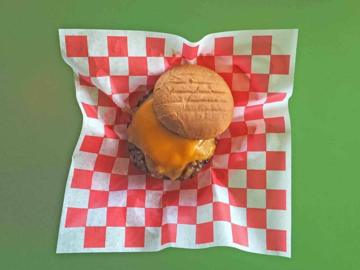 EZ's Brick Oven & Grill restaurant burger