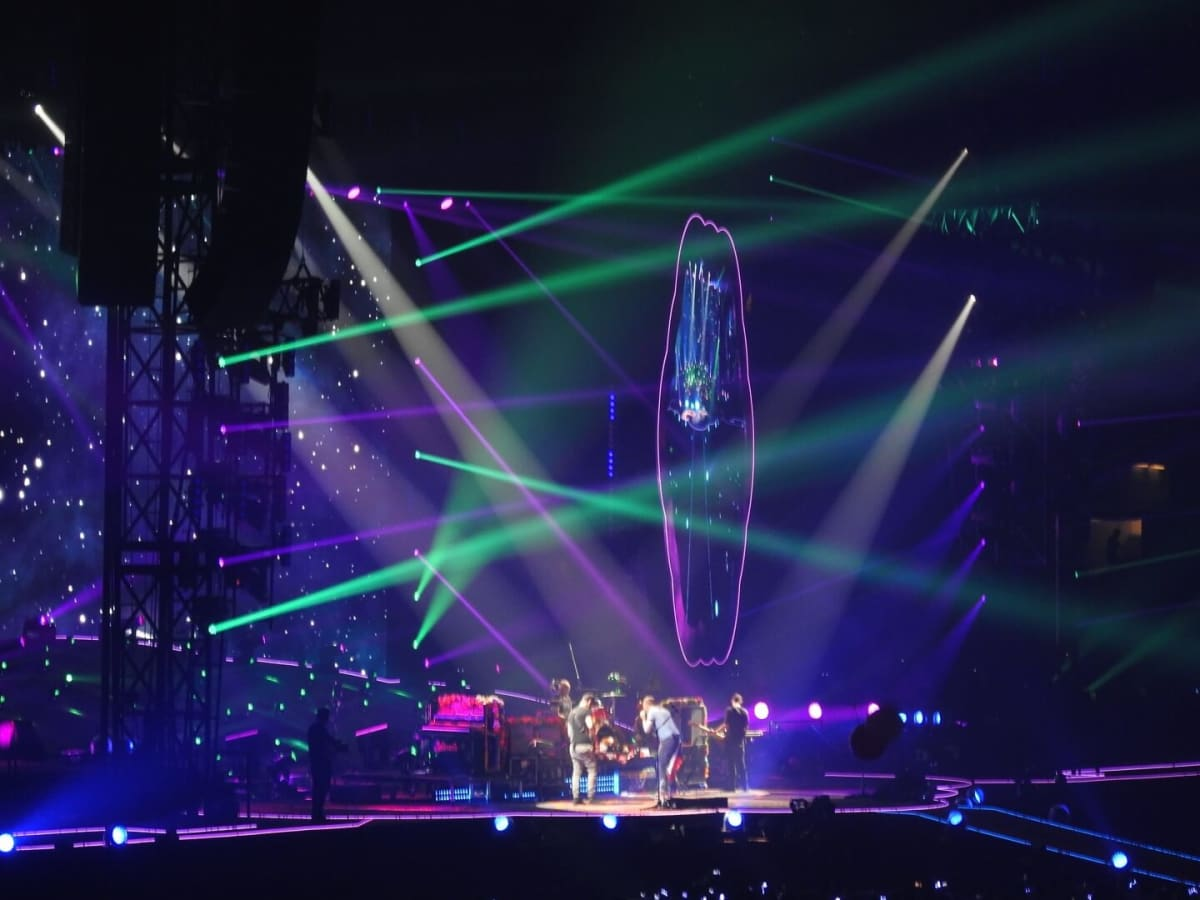 Coldplay laser show