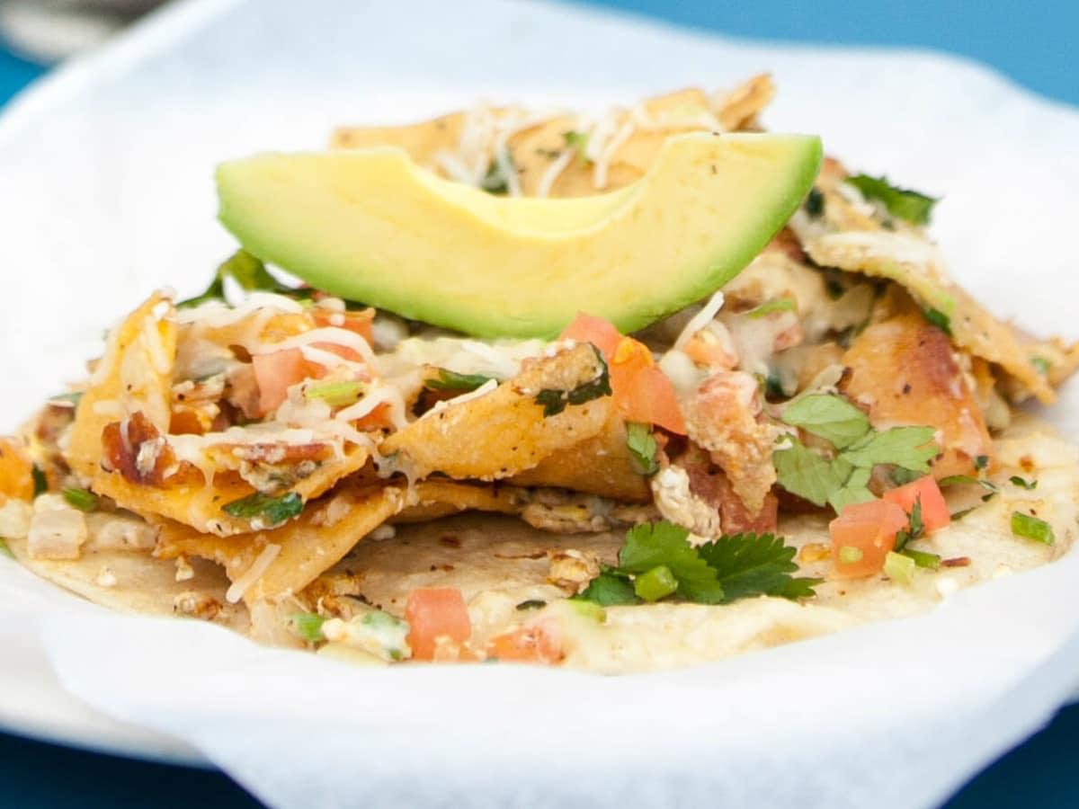 Veracruz All Natural food truck migas taco