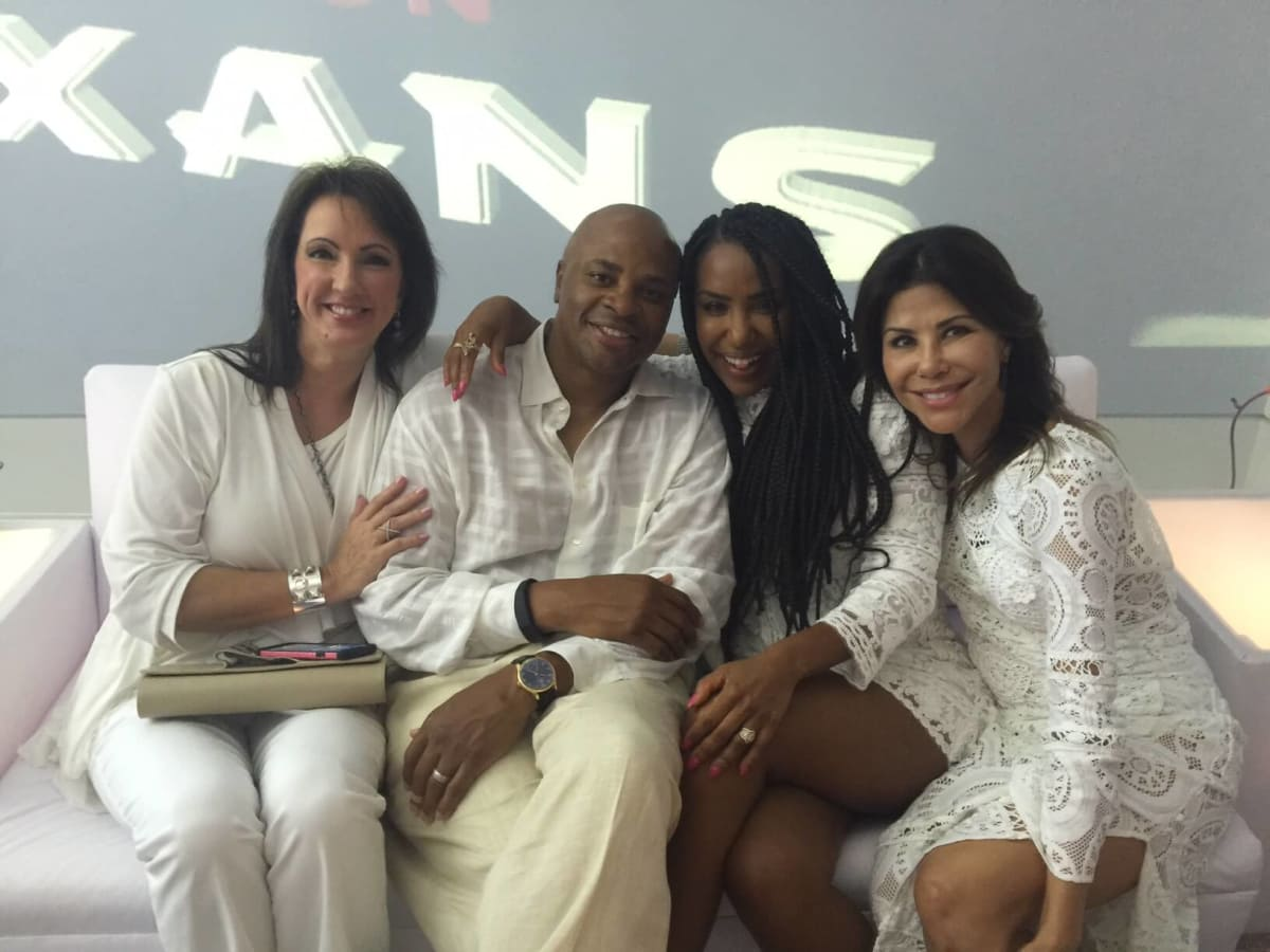Loya Texans White Out party, 9/16 Alicia Smith, Rick Smith, Tiffany Smith, Ericka Bagwell