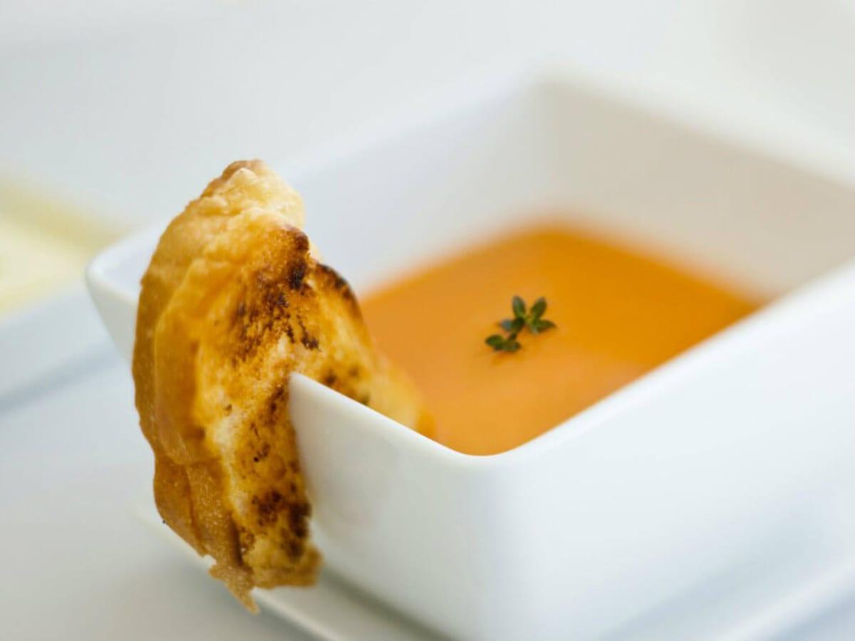 Tomato soup at Hattie's restaurant in Dallas