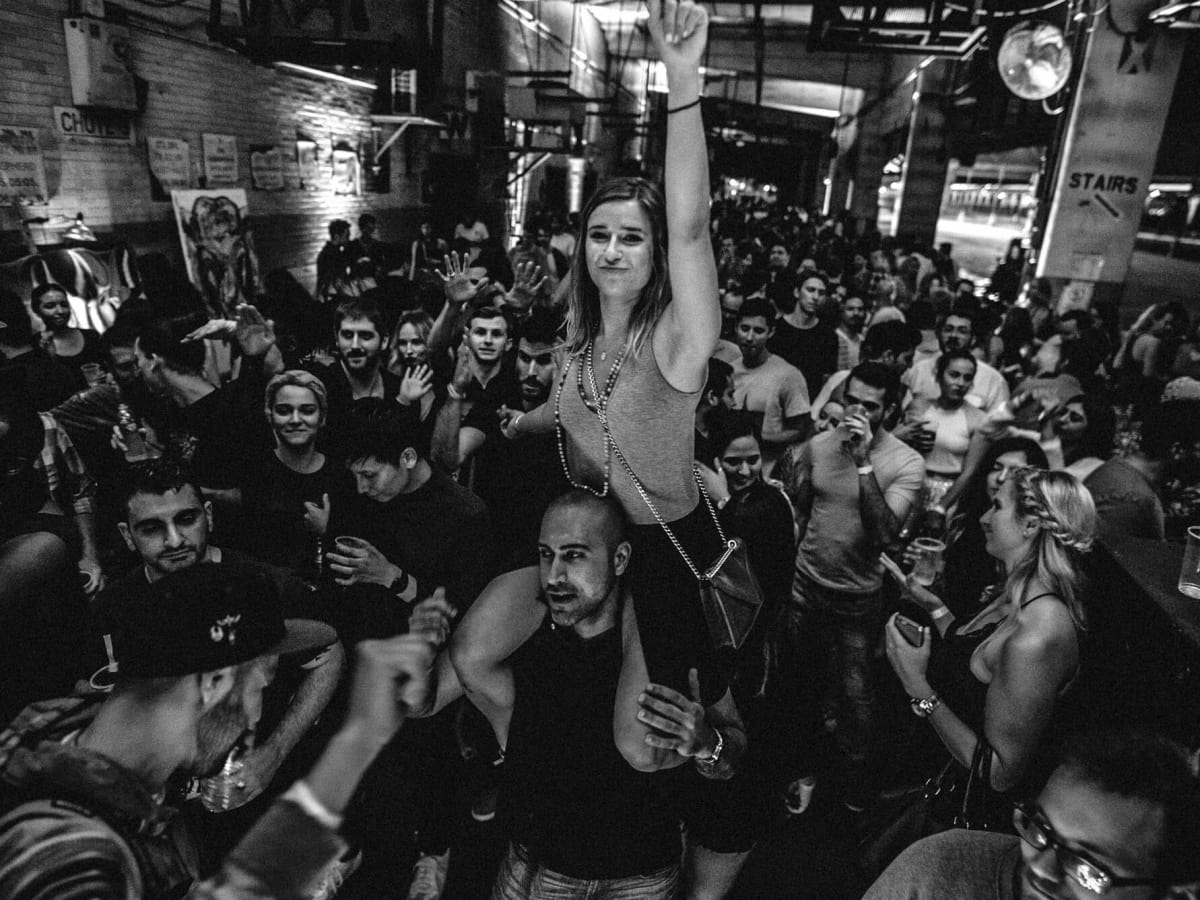 Houston, Post HTX at 401 Franklin, September 2016, Cirque Nior party