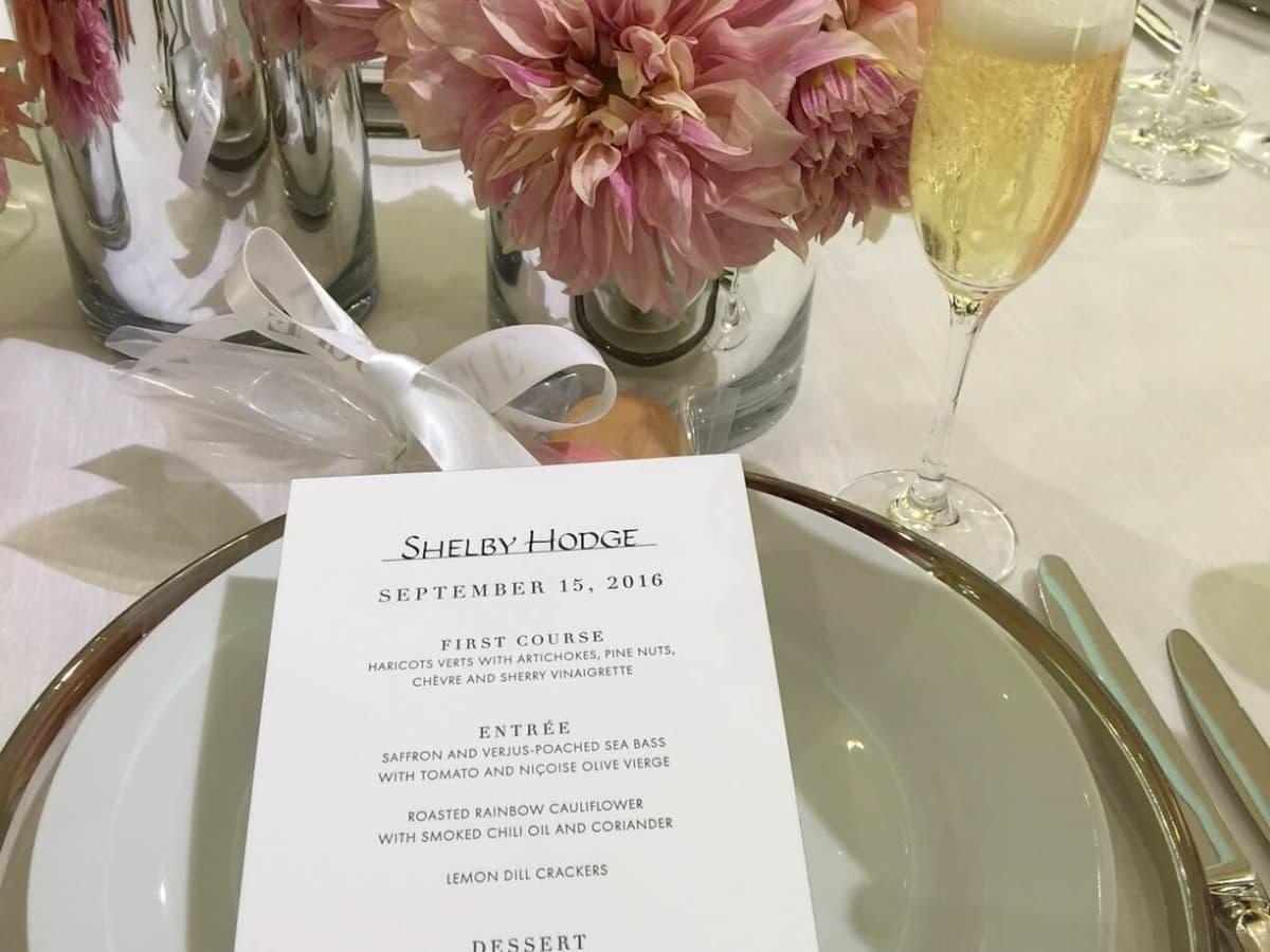 Vogue, Louis Vuitton lunch, 9/26 menu