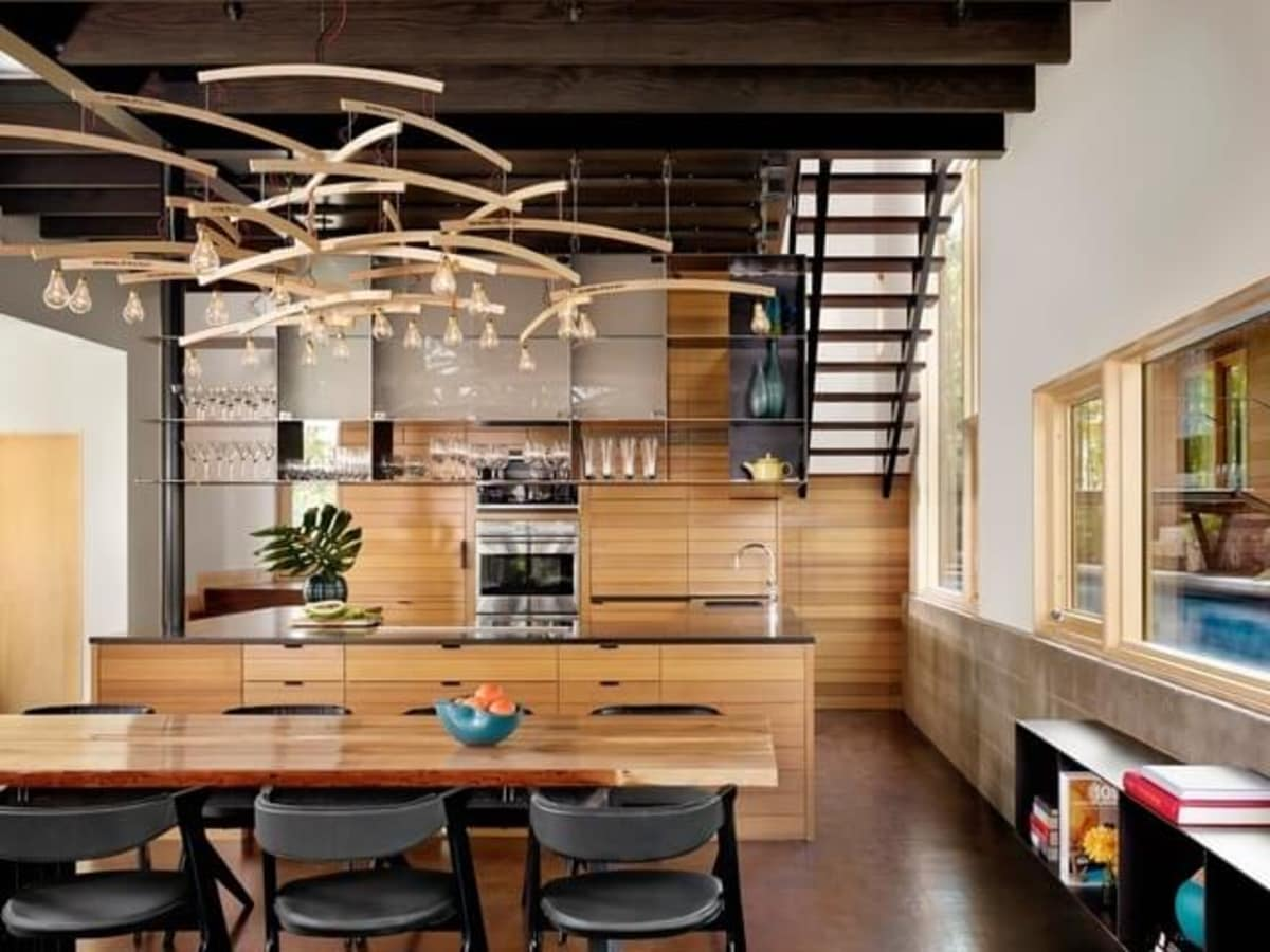 Austin house home Houzz modern Lake Austin kitchen