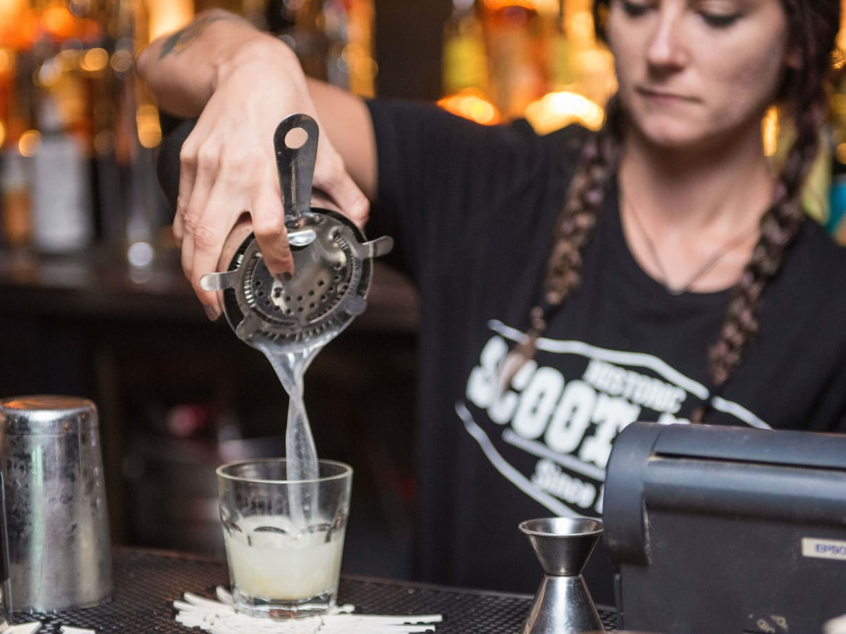 The Scoot Inn venue bar East Austin renovations 2016 bartender