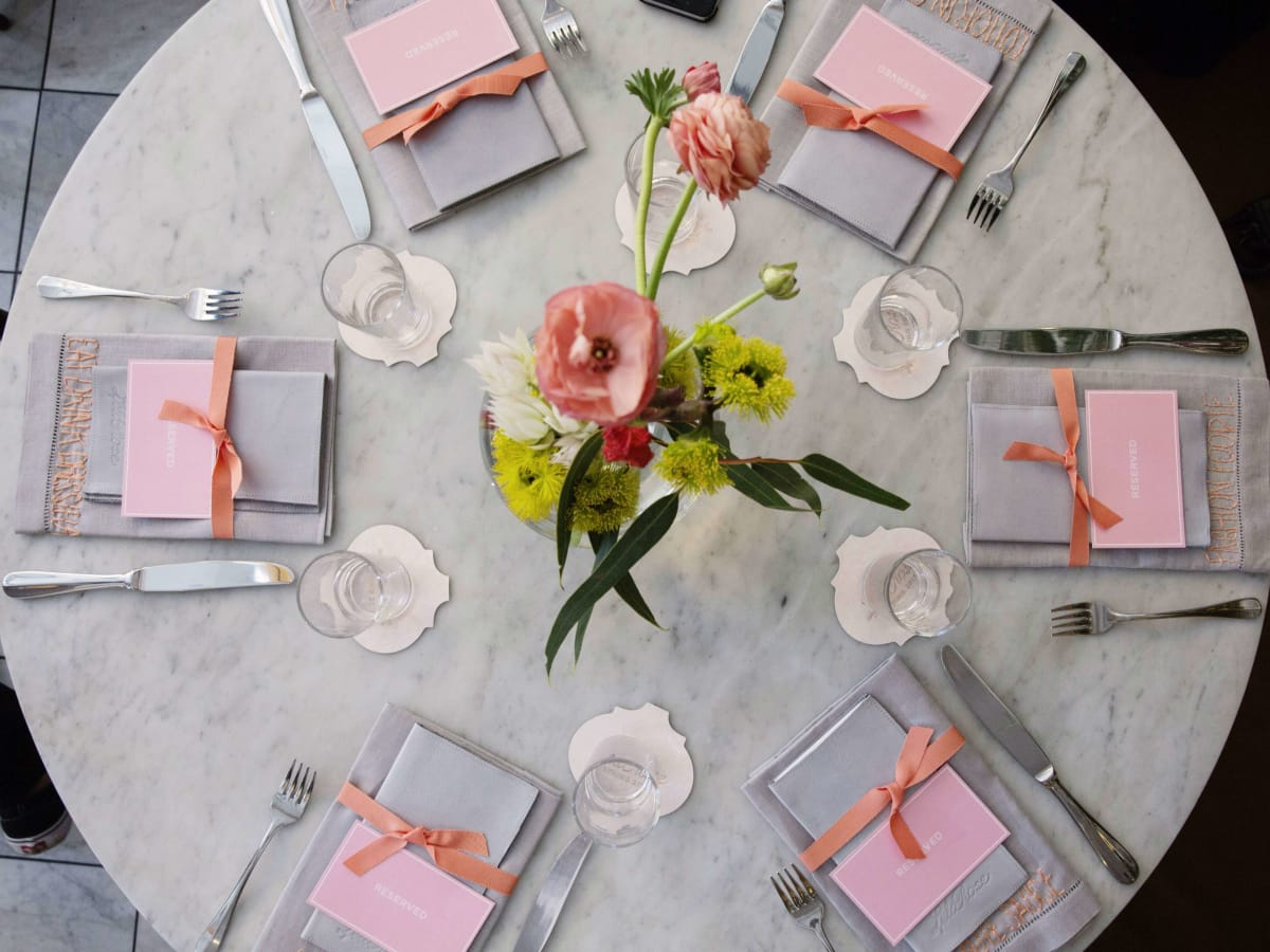 Lela Rose spring 2017 collection table setting