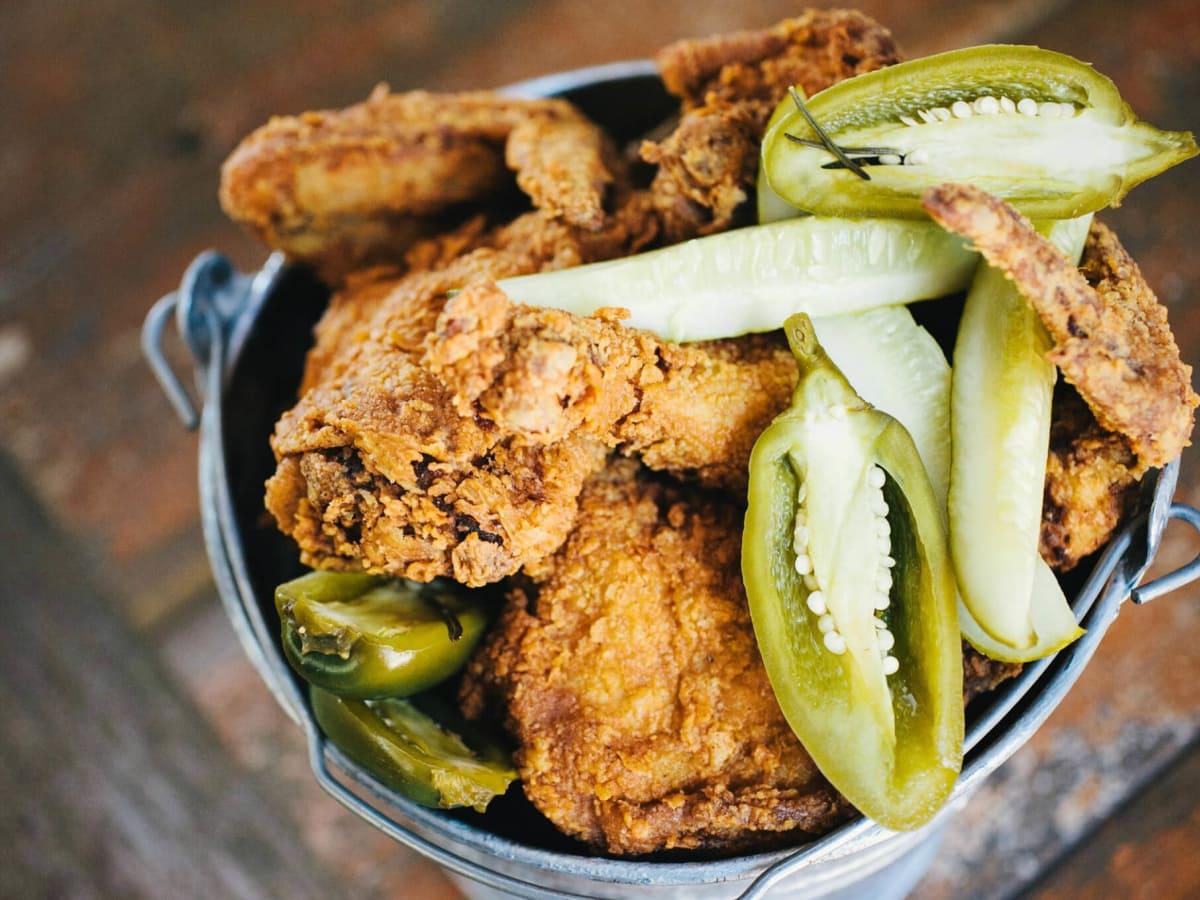 Lucy's Fried Chicken bucket