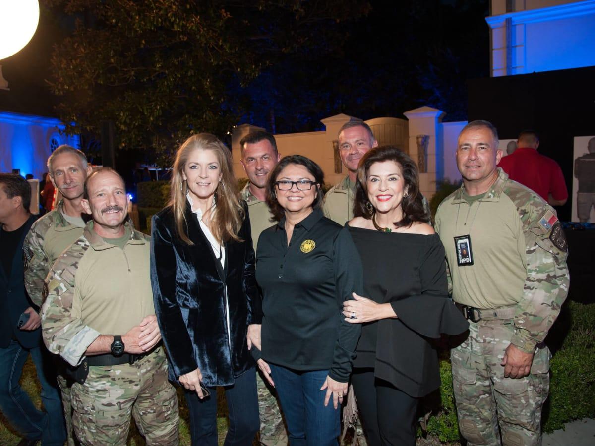 Houston, HPD True Blue Gala, Oct. 2016, Paige Fertitta, Interim Houston Police Chief Martha I. Montalvo, Dancie Ware