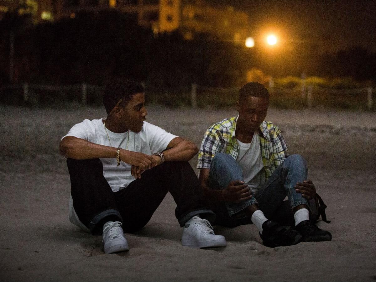 Jharrel Jerome and Ashton Sanders in Moonlight