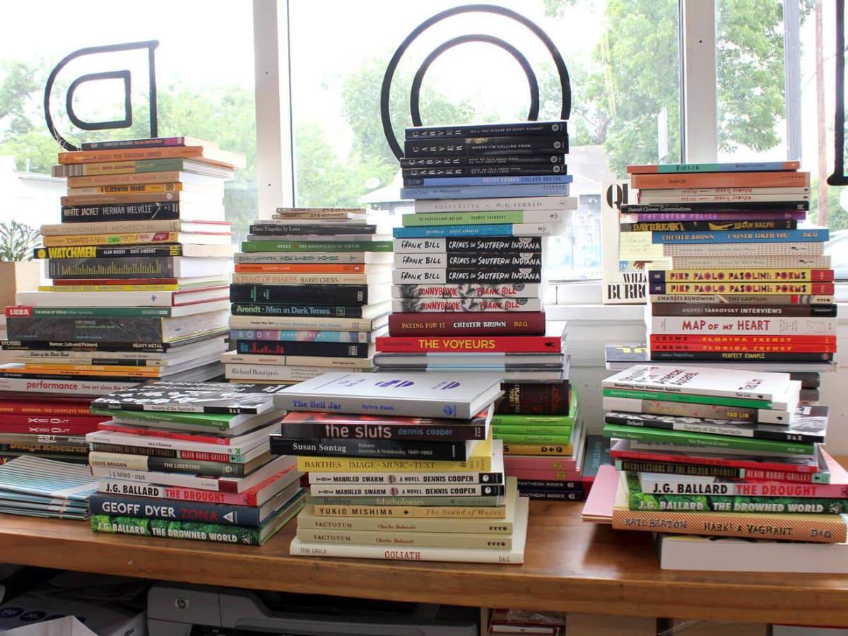 Farewell Books stack of books