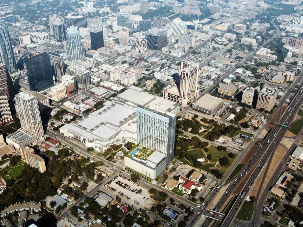 Fairmont Austin hotel Austin Convention Center rendering aerial