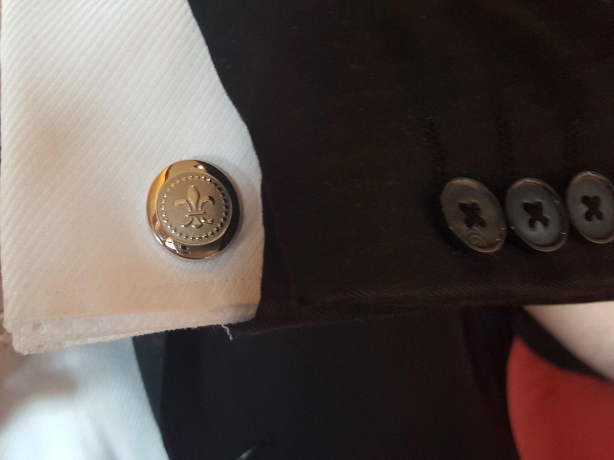 Louis XIII cufflinks cognac