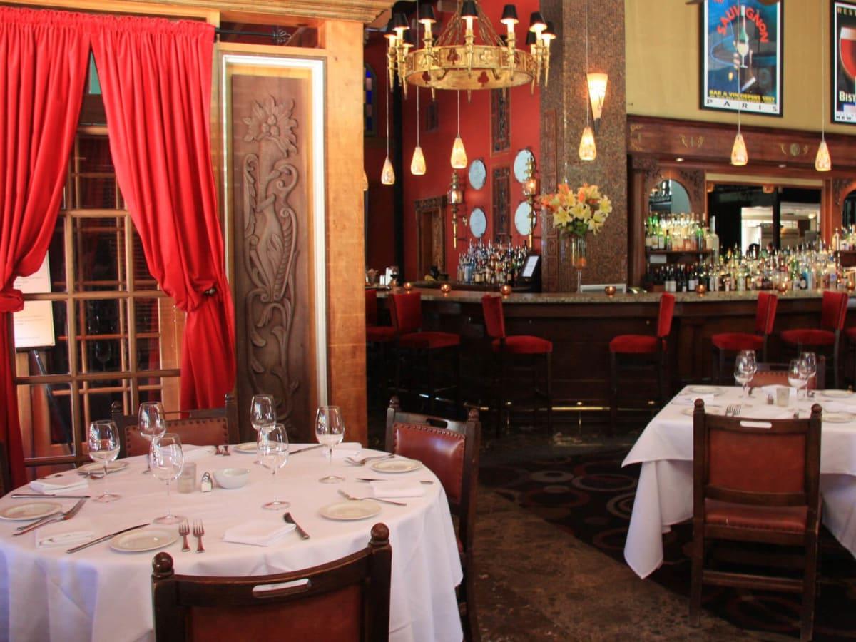 Mockingbird Bistro & Wine Bar interior with bar