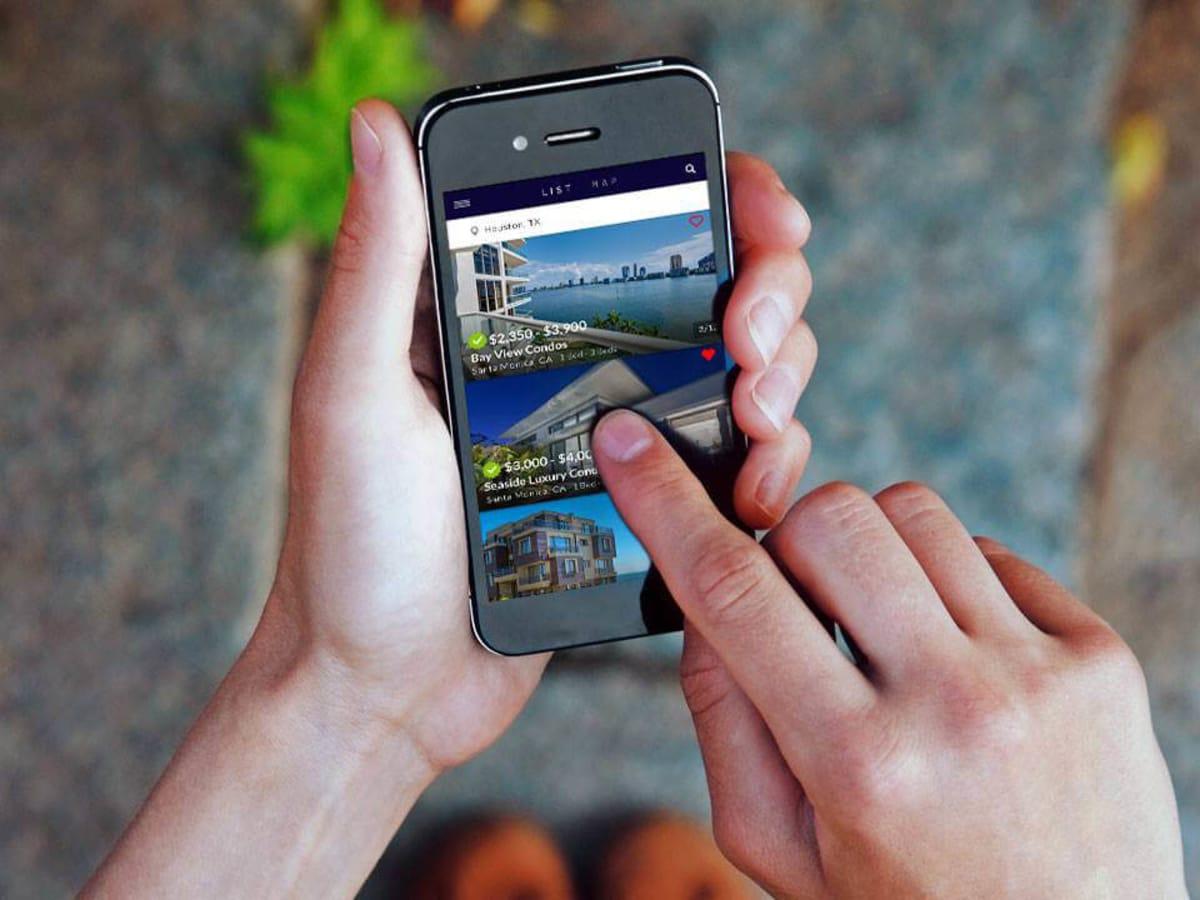 HomeMe real estate app phone