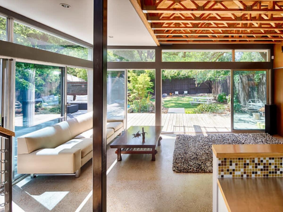 Houzz Dallas house home modern garden pavilion Little Forest Hills