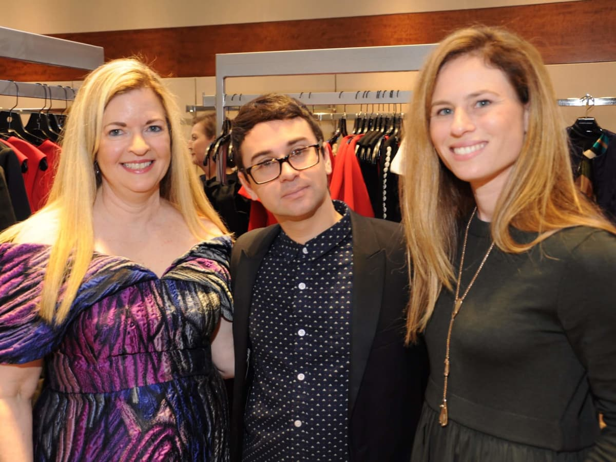 Jane Wagner, Christian Siriano, Jill Roth at Elizabeth Anthony