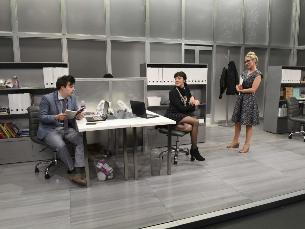 Drew Wall, Satomi Blair, and Grace Montie in Dallas Theater Center's Gloria