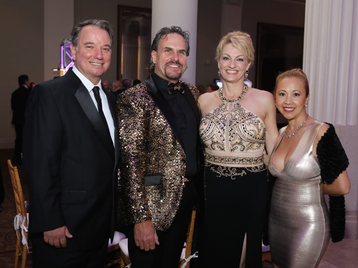 Ron Rand, Duke Ensell, C.C. Ensell, Demi Rand at Stages Gala 2017