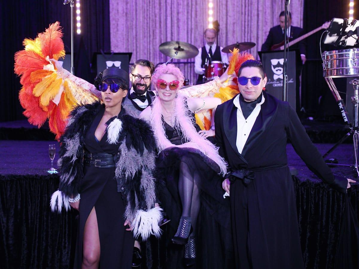 Megan Bailey, Fady Armanious, Vivian Wise, Christian Miranda at Stages Gala 2017