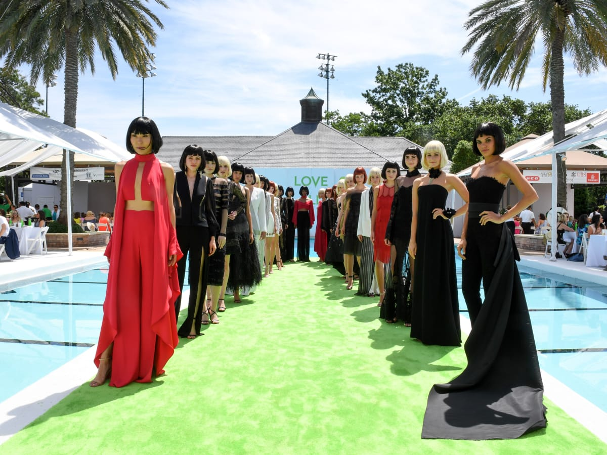 Houston, River Oaks and Tootsies tennis tournament luncheon, April 2017, models